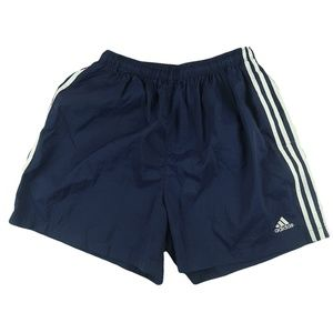 Vintage 90s Adidas Running Navy Shorts XL